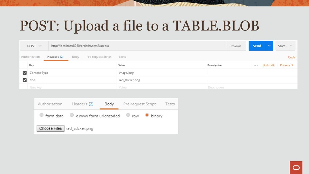 POST: Upload a file to a TABLE.BLOB