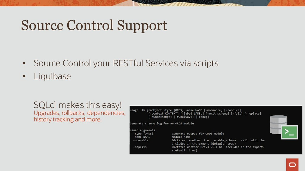 Source Control Support • Source Control your RE...