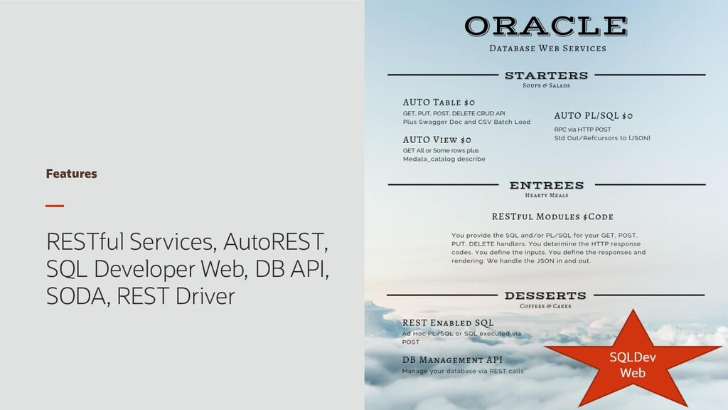 Features RESTful Services, AutoREST, SQL Develo...