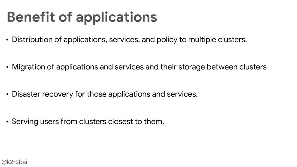 @k2r2bai • Distribution of applications, servic...