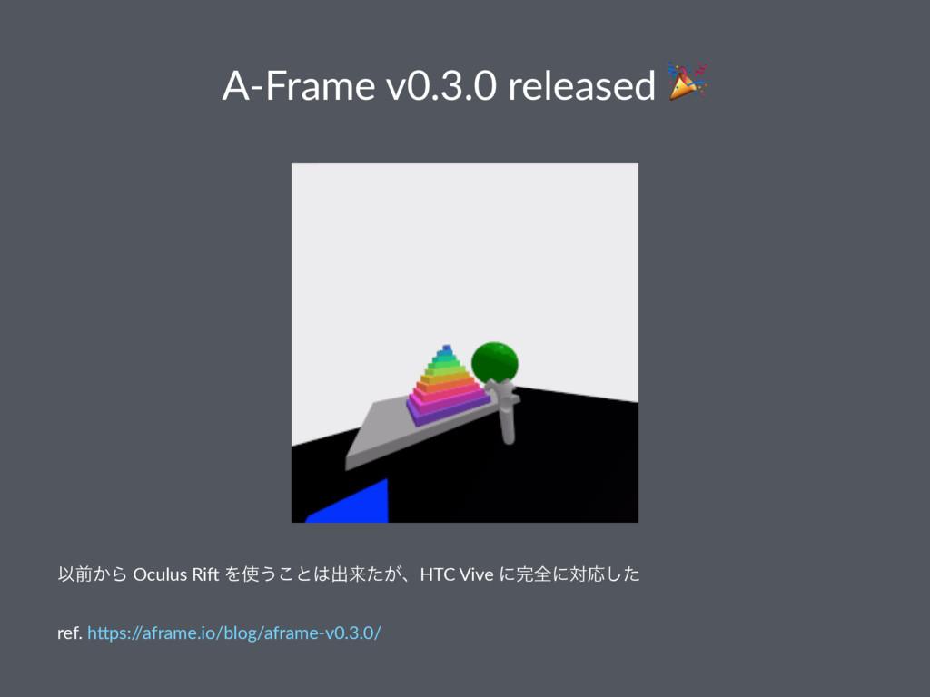 A-Frame v0.3.0 released ! Ҏલ͔Β Oculus Ri) Λ͏͜ͱ...