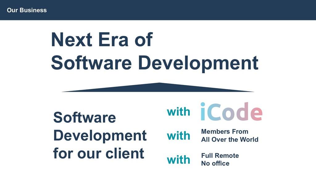 Our Business Next Era of Software Development S...