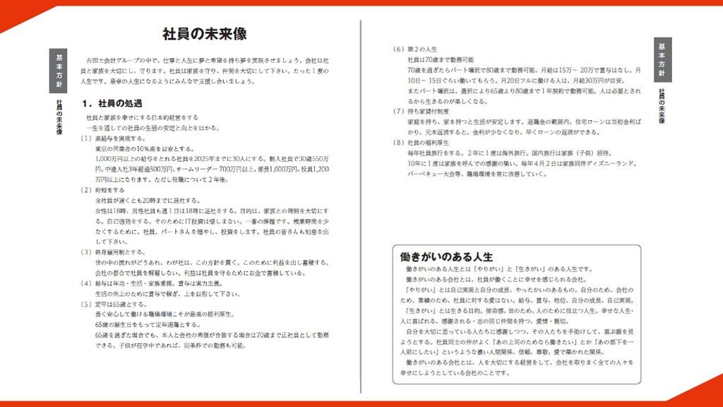 経営計画書サンプルページ