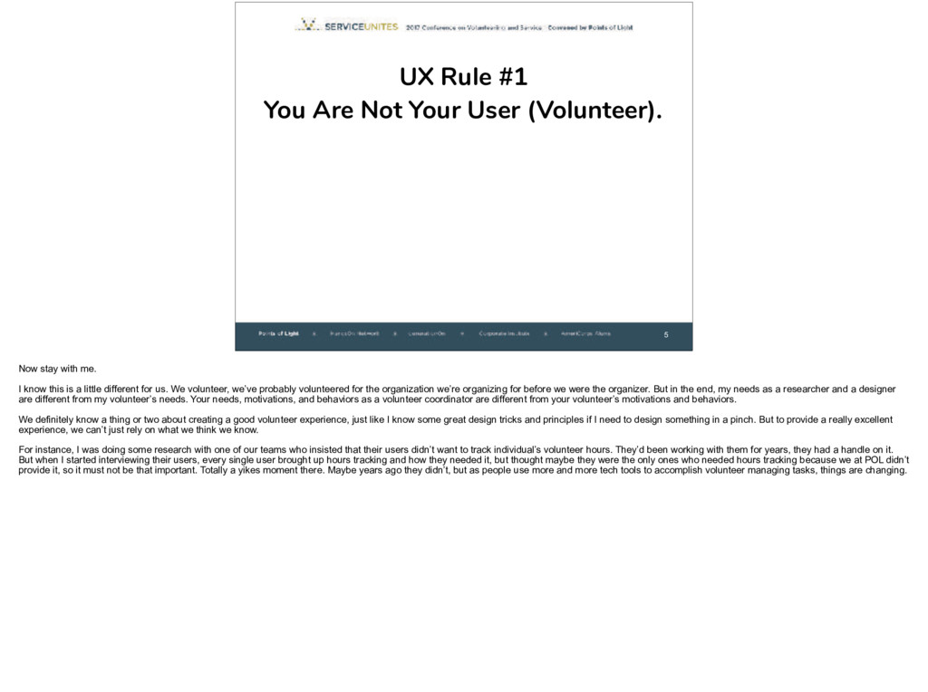 5 UX Rule #1