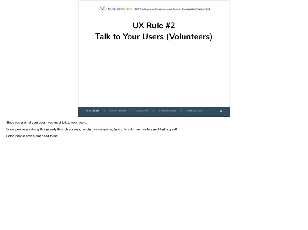 6 UX Rule #2