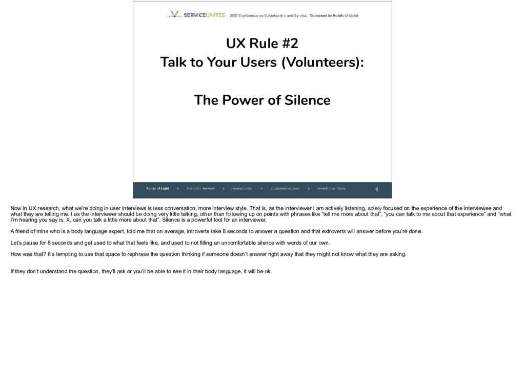 8 UX Rule #2