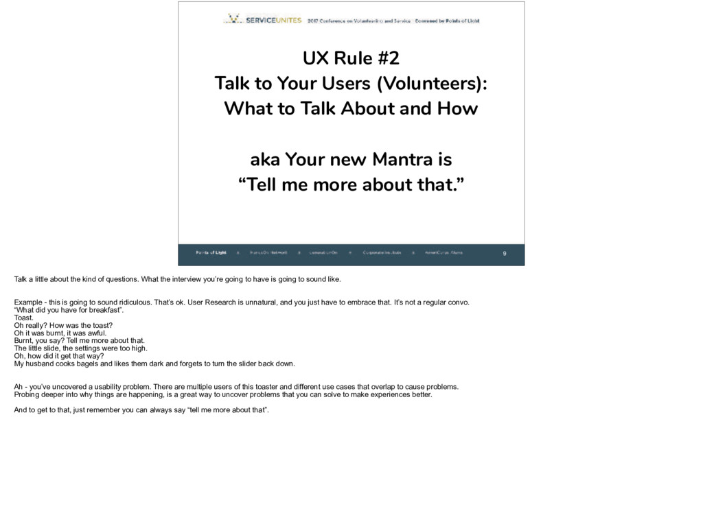 9 UX Rule #2