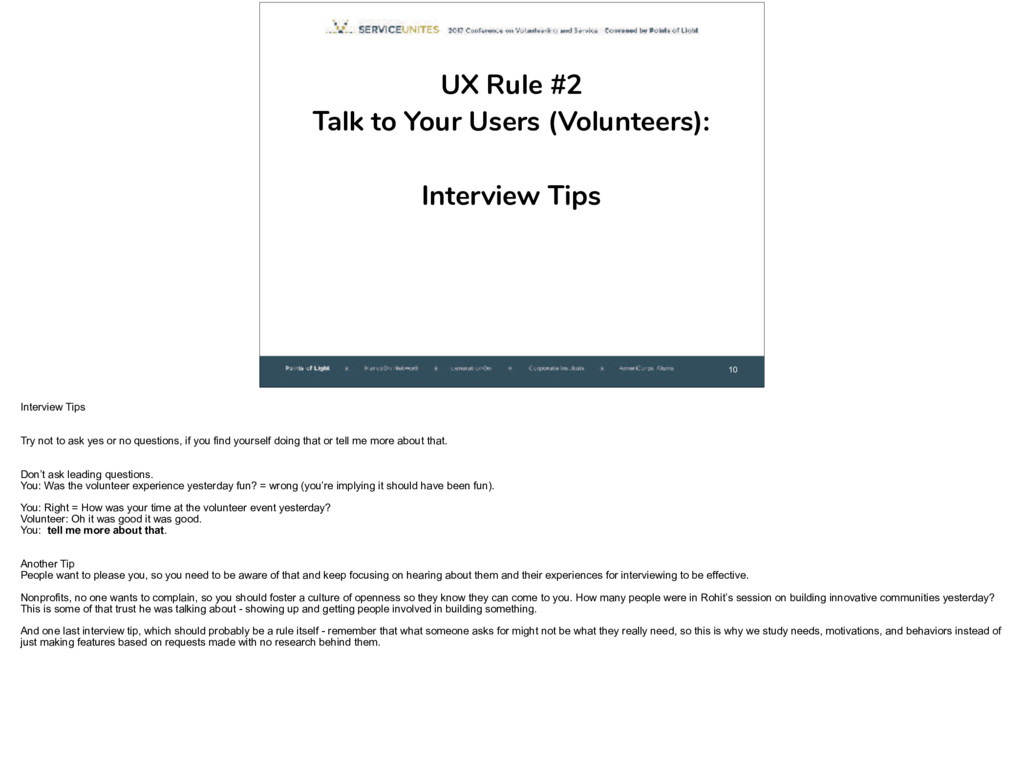 10 UX Rule #2
