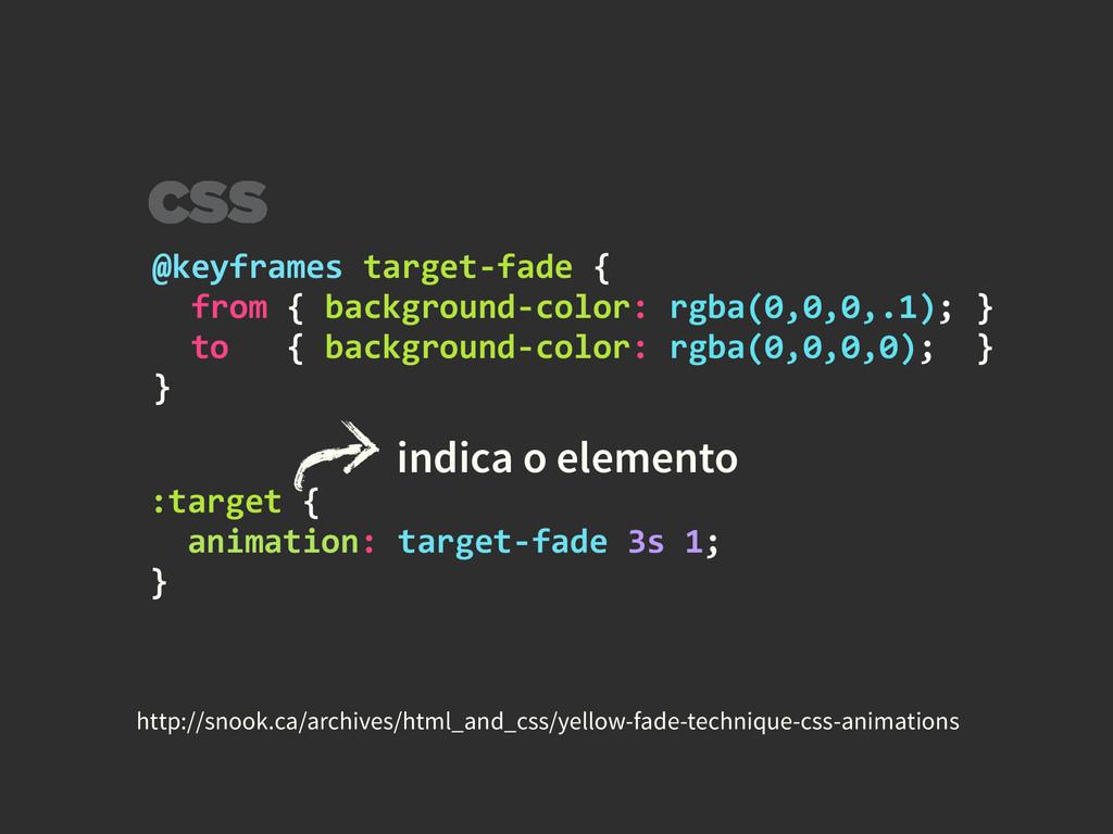 @keyframes target-‐fade {    fr...