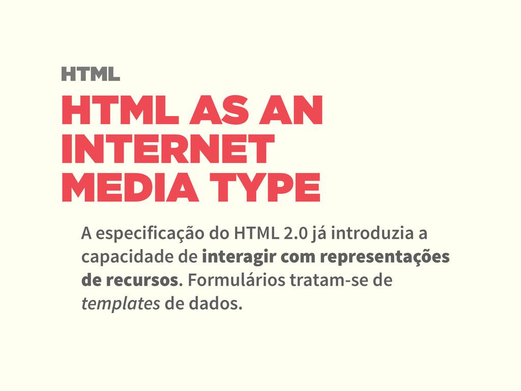 HTML AS AN INTERNET MEDIA TYPE A especificação ...
