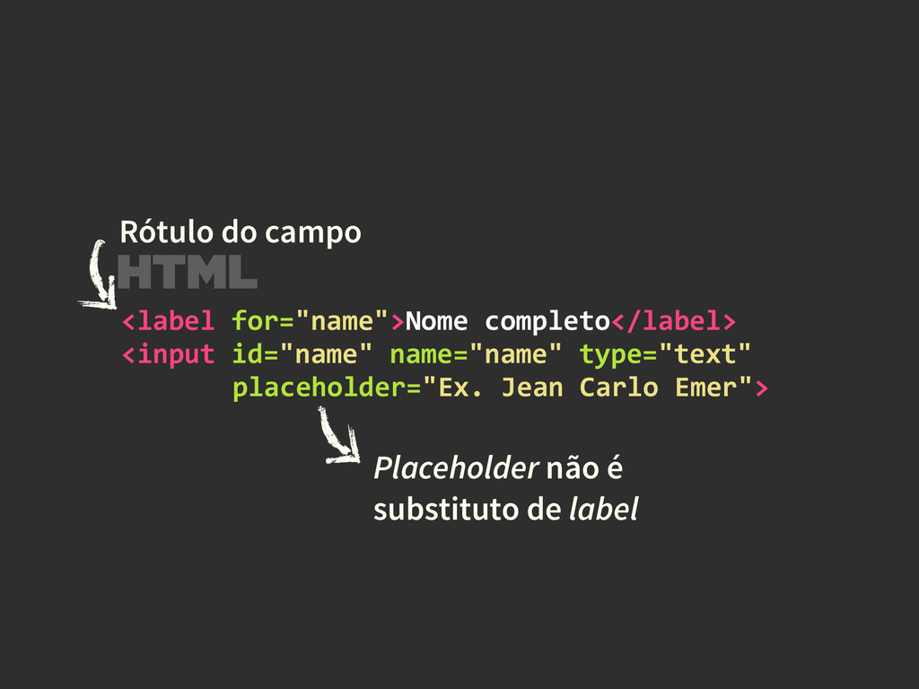 """<label for=""""name"""">Nome completo</label>..."""