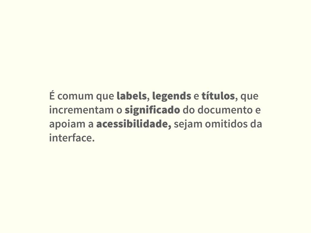 É comum que labels, legends e títulos, que incr...