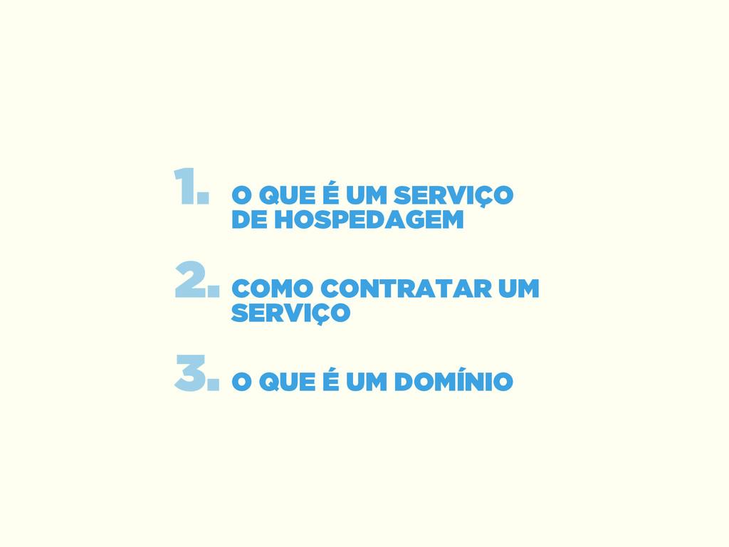 ! 1. O QUE É UM SERVIÇO DE HOSPEDAGEM 2. COMO ...