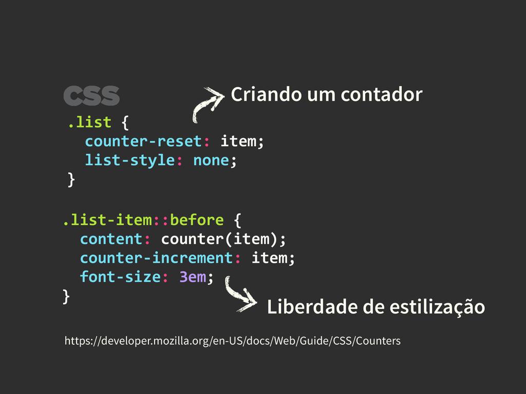 .list {    counter-‐reset: item...