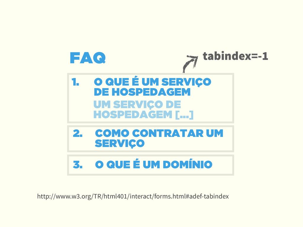 FAQ 1. O QUE É UM SERVIÇO DE HOSPEDAGEM ! 2. C...