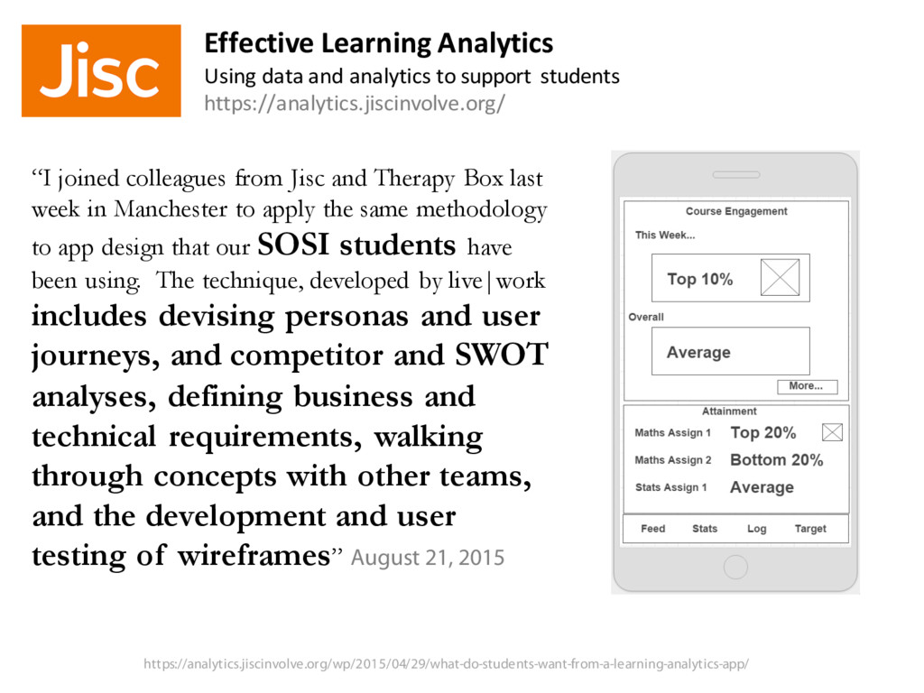 """""""I joined colleagues from Jisc and Therapy Box ..."""