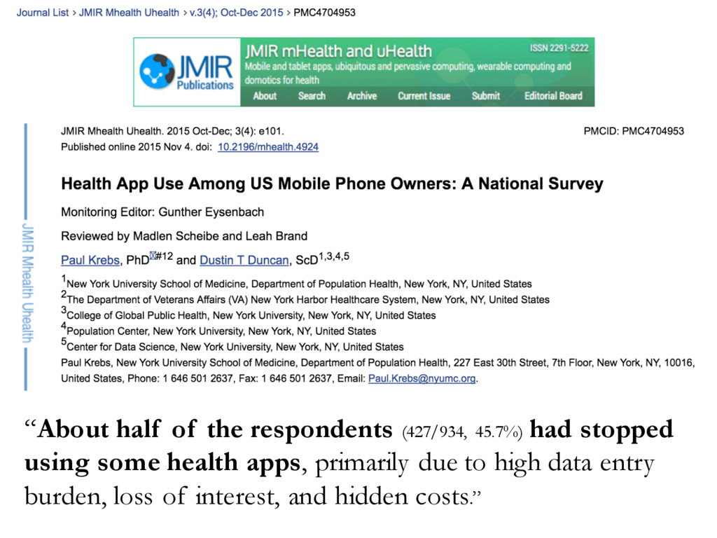 """""""About half of the respondents (427/934, 45.7%)..."""