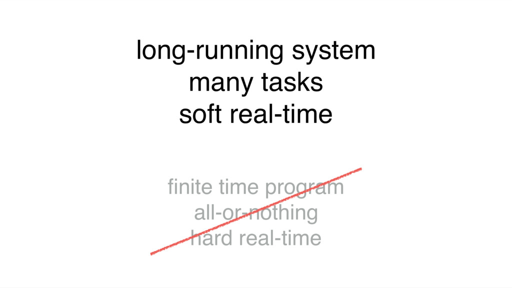 long-running system many tasks soft real-time fi...