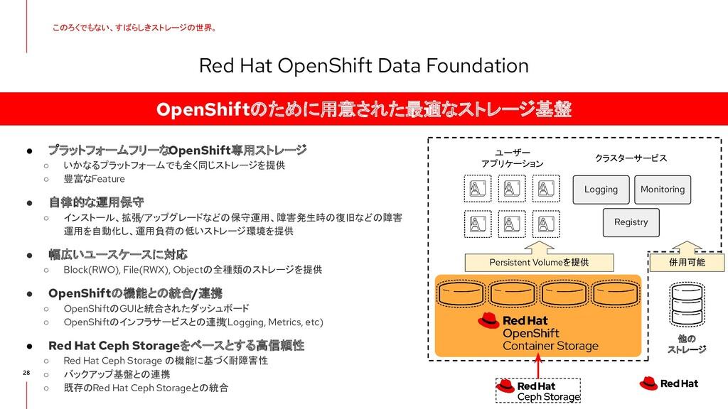 28 Red Hat OpenShift Data Foundation このろくでもない、す...