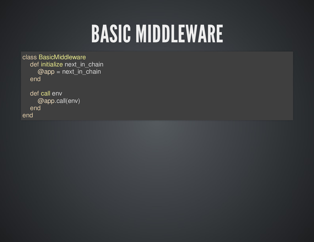 BASIC MIDDLEWARE class BasicMiddleware def init...