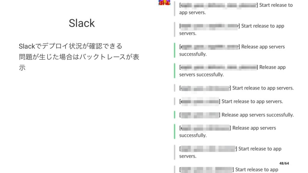 Slack SlackͰσϓϩΠঢ়گ͕֬Ͱ͖Δ ͕ੜͨ͡߹όοΫτϨʔε͕ද ࣔ 4...