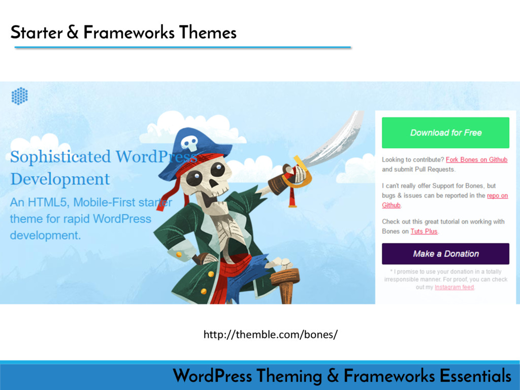 Starter & Frameworks Themes WordPress Theming &...