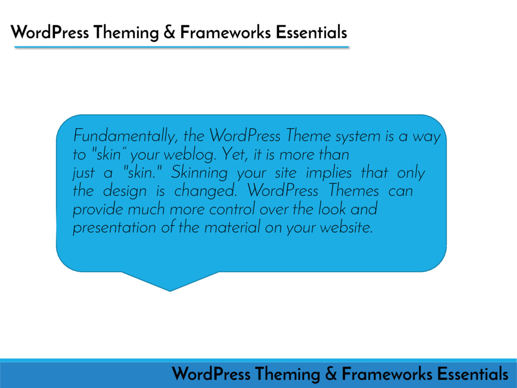 WordPress Theming & Frameworks Essentials Funda...