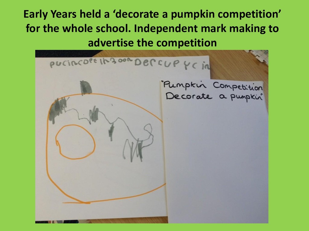 Early Years held a 'decorate a pumpkin competit...