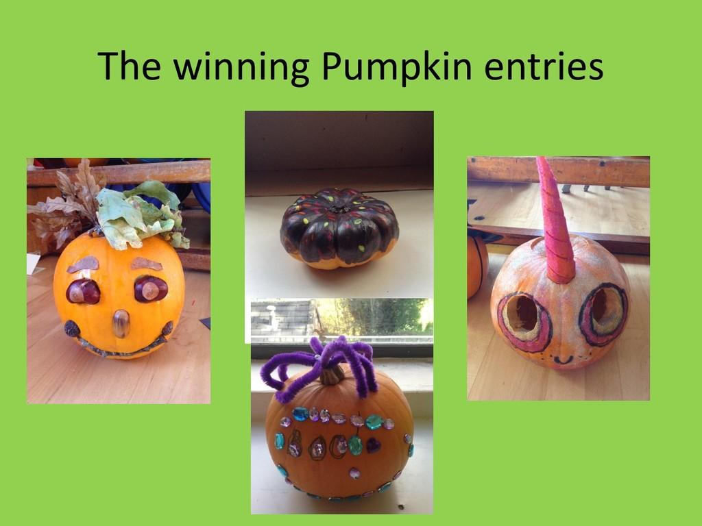 The winning Pumpkin entries