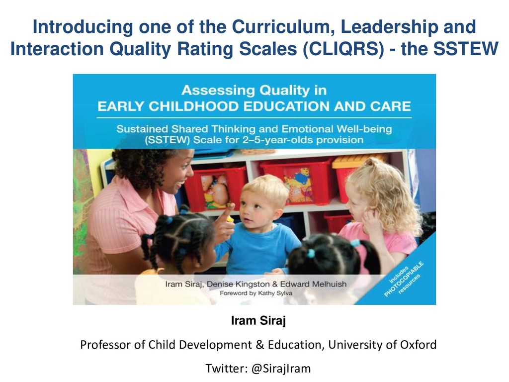 Introducing one of the Curriculum, Leadership a...