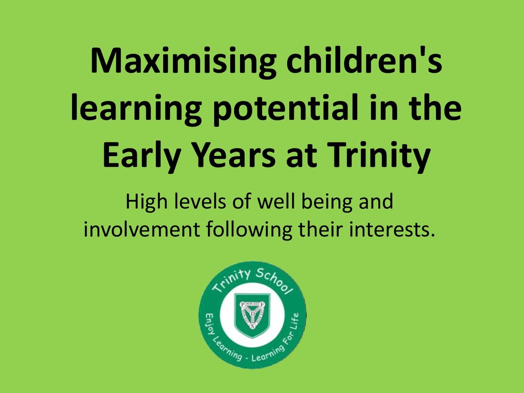 Maximising children's learning potential in the...