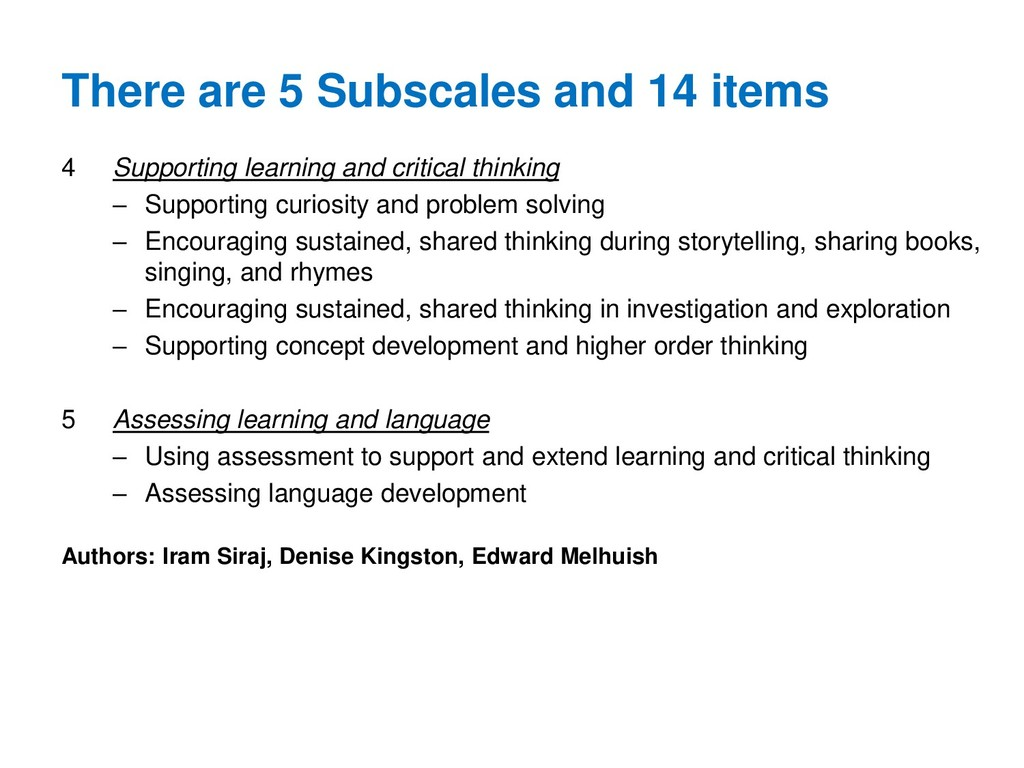 4 Supporting learning and critical thinking – S...
