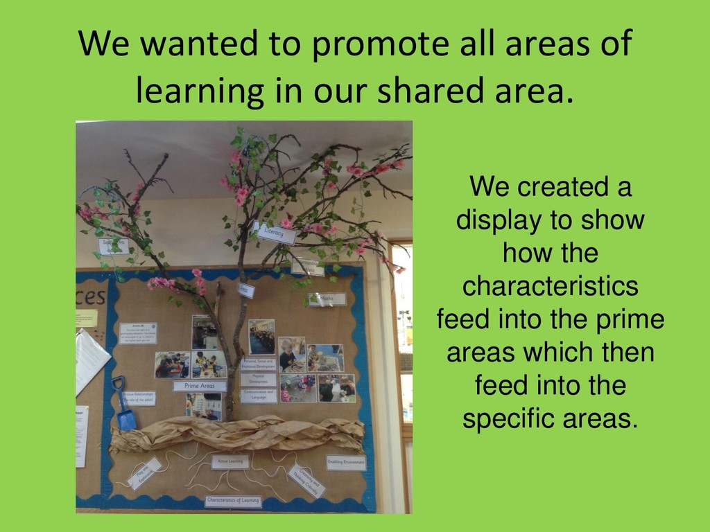 We wanted to promote all areas of learning in o...