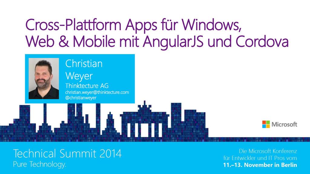 Cross-Plattform Apps für Windows, Web & Mobile ...