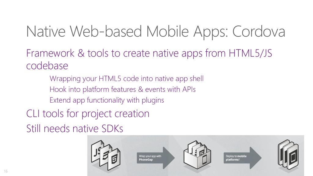 Native Web-based Mobile Apps: Cordova Framework...
