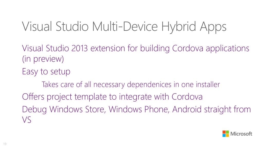 Visual Studio Multi-Device Hybrid Apps Visual S...