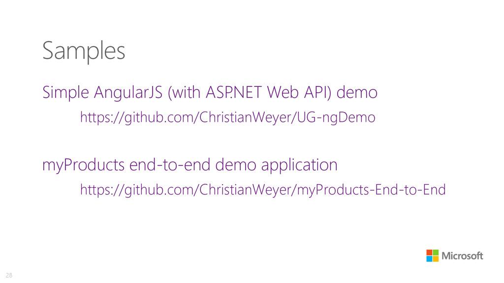 Samples Simple AngularJS (with ASP .NET Web API...