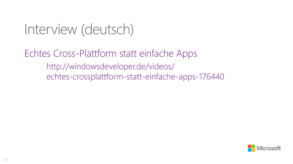 Interview (deutsch) Echtes Cross-Plattform stat...