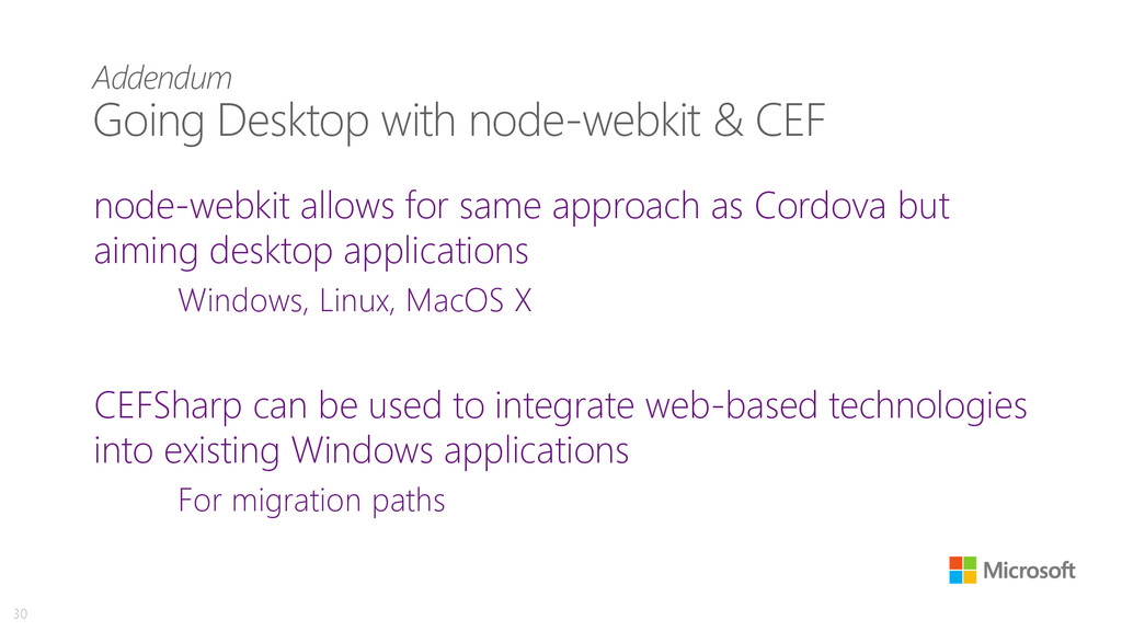 Addendum Going Desktop with node-webkit & CEF n...