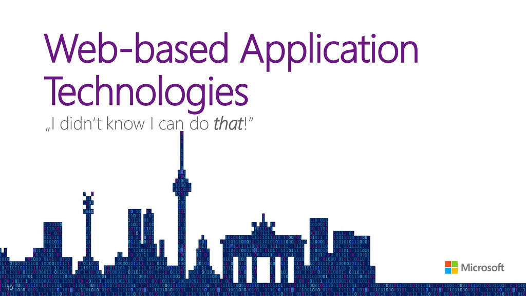 "Web-based Application Technologies ""I didn't kn..."