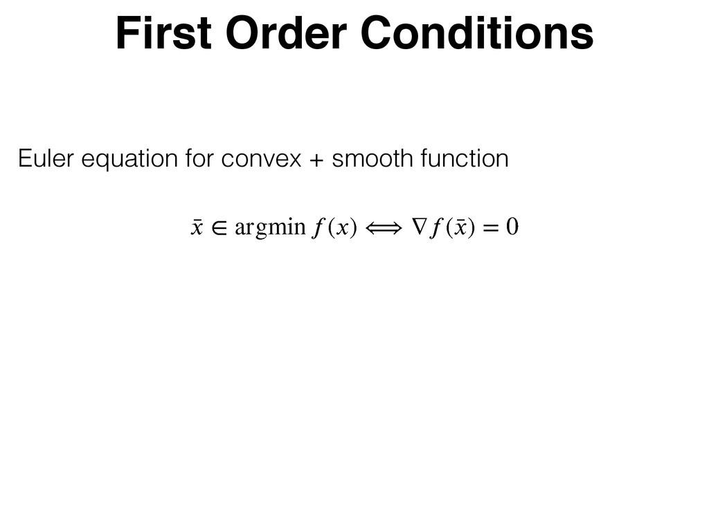 First Order Conditions Ȣ  ѵ bshnjo ে)* ܧ Ѵে) ...