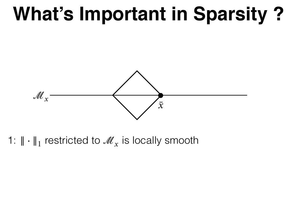 What's Important in Sparsity ? Ϥ৘ Ȣ ৘ 1: }} Բ }...