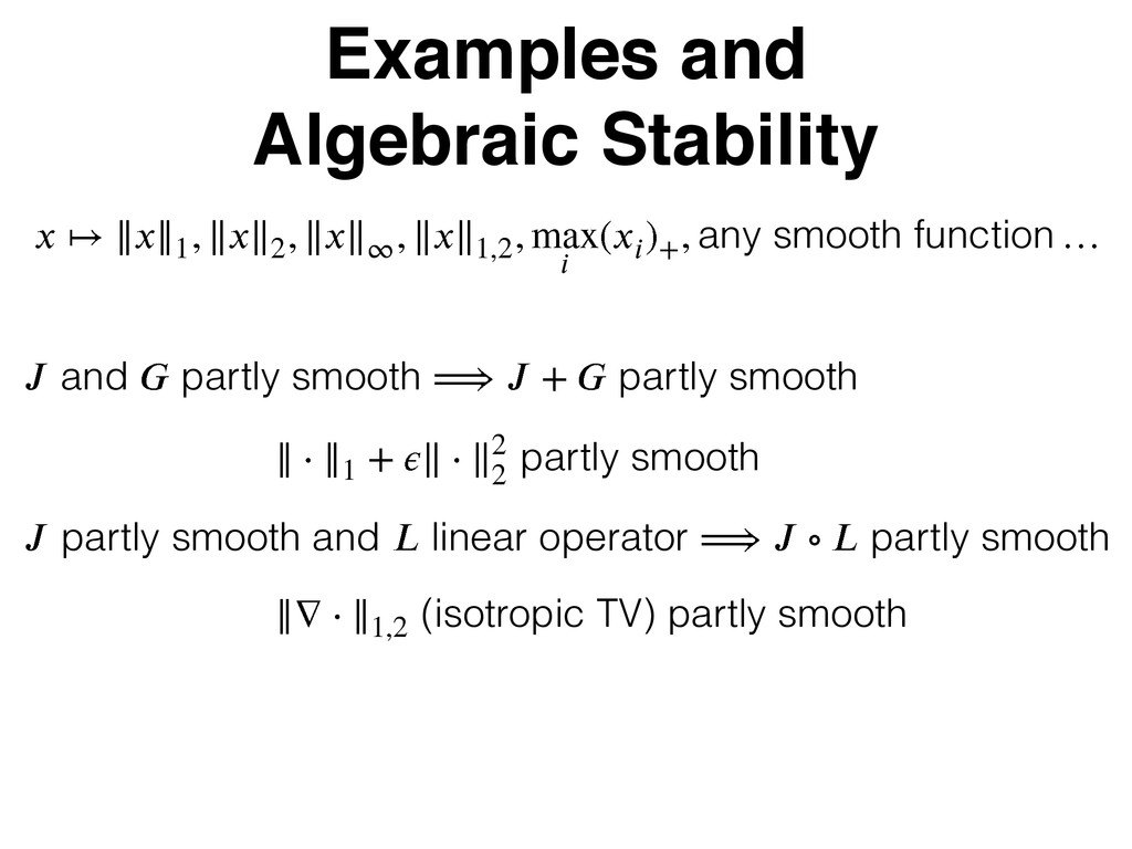 Examples and Algebraic Stability  М }}}}2 - }...