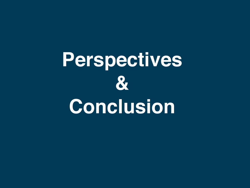 Perspectives & Conclusion