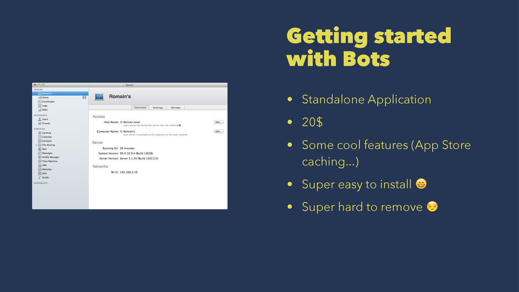 Getting started with Bots • Standalone Applicat...
