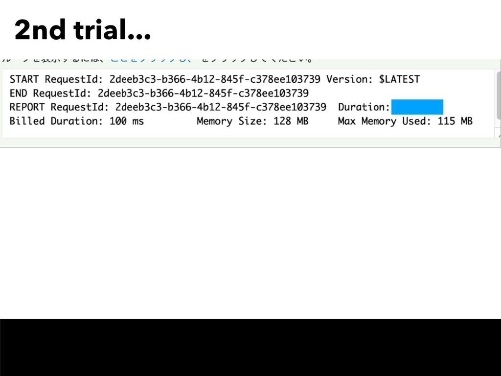 2nd trial... TODO screen shot