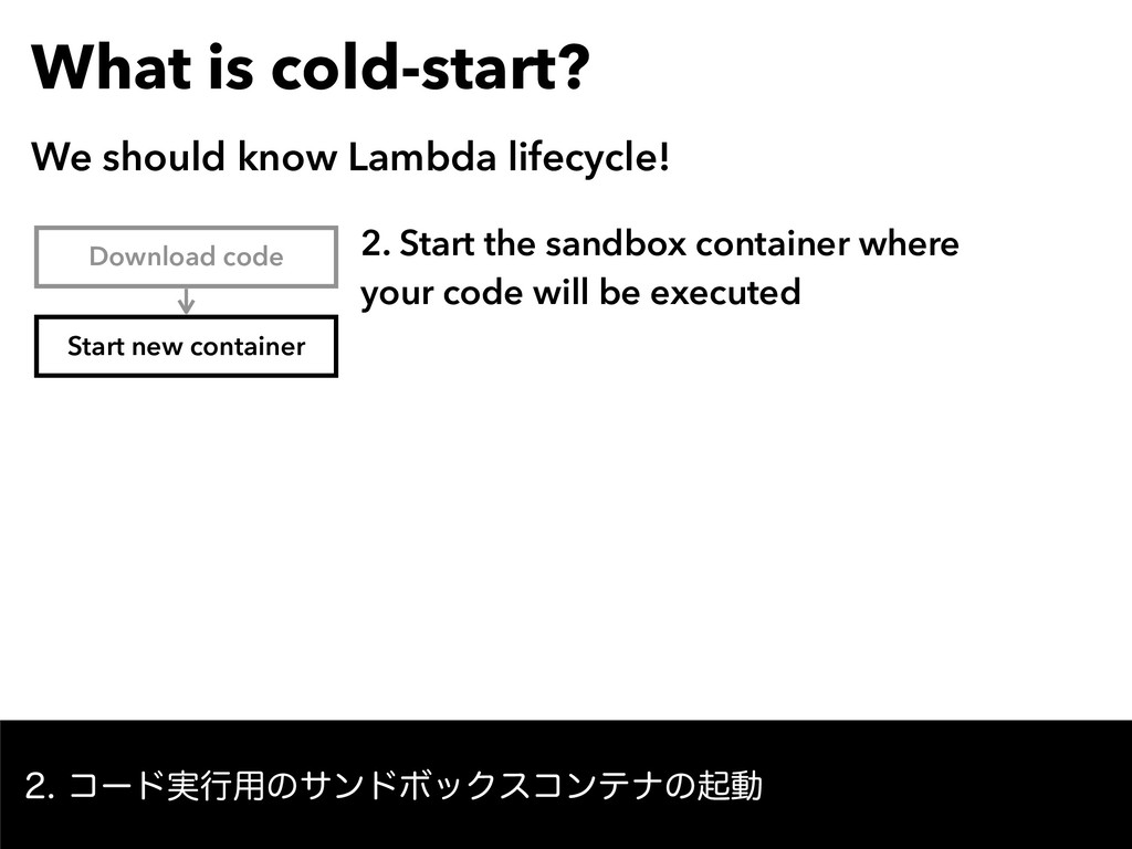 What is cold-start? We should know Lambda lifec...