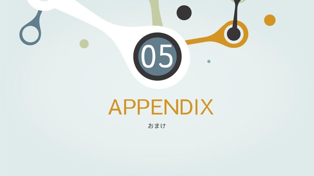APPENDIX 05 おまけ