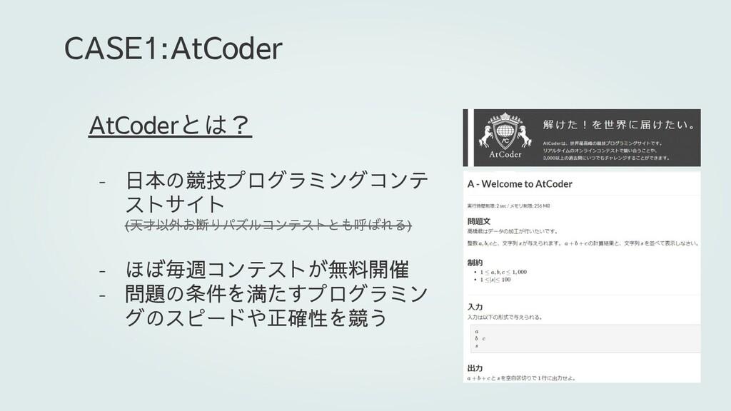 AtCoderとは? - 日本の競技プログラミングコンテ ストサイト (天才以外お断りパズルコ...