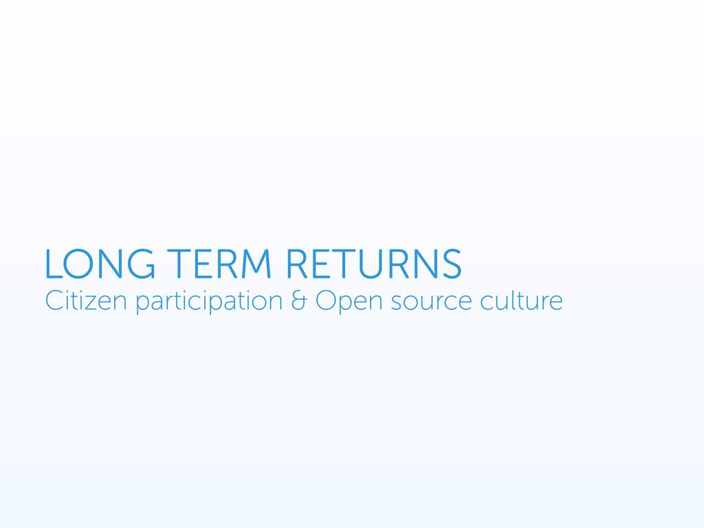 Citizen participation & Open source culture LON...